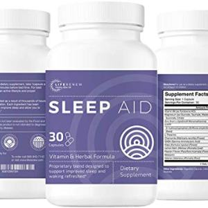 Life Renew: Sleep Aid - All-Natural - Works Fast - No Grogginess and Non-Habit Forming- Alternative Sleep Aid Supplement - 30 Day Supply