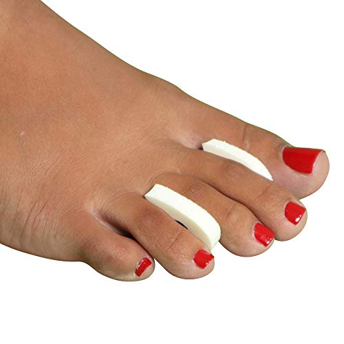 Premium Foam Toe Separators - Toe Spacers for Corn, Blisters, and Hammer Toe Relief - 1/4 Inch - Bulk Pack of 50 Toe Pads