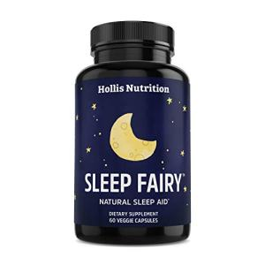 Sleep Fairy Natural Sleep Aid | Non-Habit Forming | Anxiety & Insomnia Relief Supplement | Herbal Sleeping Pills for Adults w/Valerian Root, GABA, L-Theanine, Magnesium, Melatonin | 60 Vegan Caps