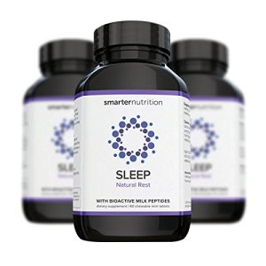 Smarter Sleep - Nighttime Sleep Aid with Bioactive Milk Peptides - Includes Melatonin, a Naturally-Occurring Hormone for Regulating Sleep (90 Servings)