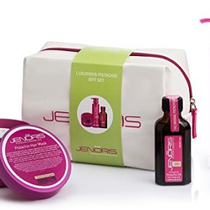 Jenoris Pistachio Oil Kit. Hair Treatment Best Hair-Care Products for Women and Men. Add a Touch of Luxury to Your Hair-Care Routine to Maintain Your Shine and Glow Even On The Go. (Pistachio Kit)