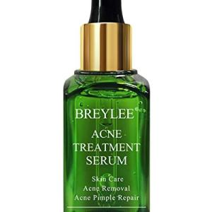 Acne Treatment Serum, BREYLEE Tea Tree Oil Clear Skin Serum for Clearing Severe Acne, Breakout, Remover Pimple and Repair Skin (40ml, 1.41fl oz)