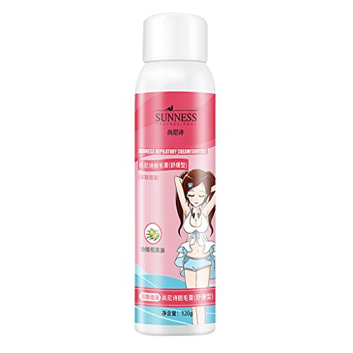 Spray Foam Hair Removal No Damage No Pain Foaming Cream Hair Removal Lotion Skin Friendly Natural Painless Flawless Depilatories Arm Face Back Chest Legs and Underarm Unisex (Multicolor)