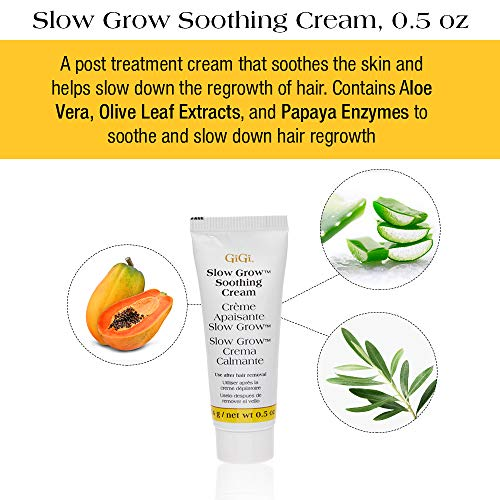 GiGi Hair Removal Cream for Face with Slow Grow Soothing Cream Model: GiGi
