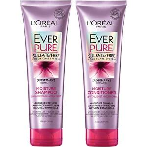 L'Oréal Paris Hair Care EverPure Moisture Sulfate Free Shampoo & Conditioner Kit for Color-Treated Hair, Moisturizes + Replenishes Dry Hair, Combo (8.5 Fl. Oz each)