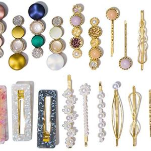 20 Pcs Macaron Hair Clips for Women Acrylic Pearl Hair Clip Handmade Pearl Hair Pins Gifts for Girls Hair Barettes for Women Fashion Hair Accessories for Party Wedding