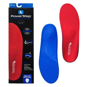 Powerstep Pinnacle Plus Orthotic Inserts, Red/Blue, Men's 9-9.5 / Women's 11-11.5