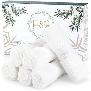 Face Cloth Made From Bamboo - Soft Wash Clothes For Face Made From Organic Bamboo Set of 6 face towel Gentle on Sensitive Skin, makeup remover cloth, soft washcloths 10 x 10 Inch