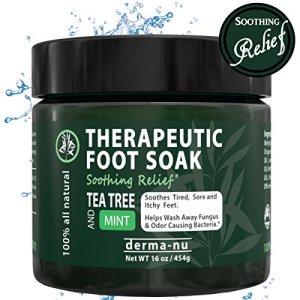Tea Tree Oil Foot Soak Antifungal with Epsom Salt, Dead Sea Salt, MSM & Tea Tree Oil. Helps Treat Nail Fungus, Calluses, Eliminate Foot Odor, Sore Feet & Muscles, Arthritis & Itchy Skin
