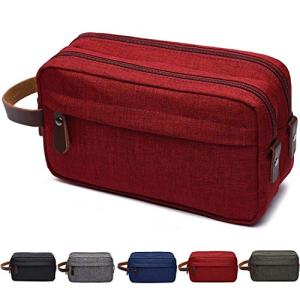 Men's Toiletry Bag Travel Dopp Kit Bathroom Shaving Organizer for Toiletries (red)