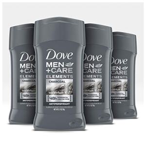 Dove Men+Care Antiperspirant Deodorant Stick Tough on Sweat, Not on Skin Charcoal 48 Hour Sweat and Odor Protection 2.7 oz 4 Count