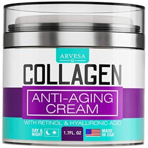 Collagen Cream - Anti Aging Face Moisturizer - Day & Night Wrinkle Cream - Boosted with Hyaluronic Acid & Vitamin A+E - Natural Firming Cream for Fine Lines & Wrinkles - Made in USA