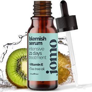 JOMO Care Acne Spot Treatment Serum - Vegan & Natural formula with Tea Tree Oil, Zinc & Vitamin E to Clear Skin & Repair Skin, Treat Blackhead, Pores and Reduce Blemish (0.5oz)