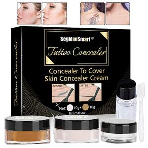 Tattoo Concealer,Scar Concealer,Makeup Concealer,Cover Tattoo,Birthmarks/Vitiligo, Waterproof Concealer,Professional Waterproof Tattoos Cover Up Makeup Concealer Set