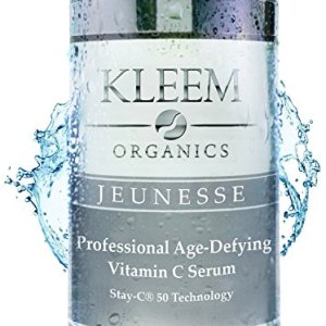 Kleem Organics Vitamin C Serum for Face with Hyaluronic Acid and Vitamin E. Natural Anti Aging Face Serum. Best Anti Wrinkle Facial Serum. Acne Spot Treatment and Dark Spot Corrector for Face. 1 oz