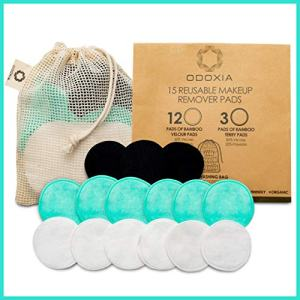 Reusable Cotton Rounds | Eco-Friendly & Zero Waste Makeup Remover Pads | 15 Natural & Organic Double Layered Face Pads with Laundry Bag | Soft for All Skin Types | Bamboo Cloths for Facial Cleansing