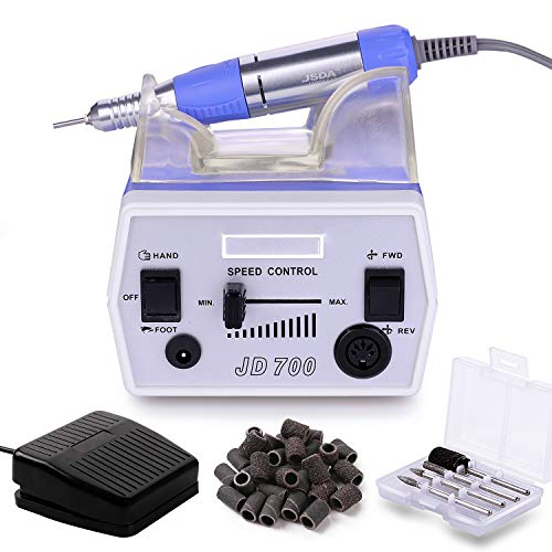 Makartt Nail Drill Electric Nail File Machine JD700 Professional 30000RPM Manicure Drill for Acrylic Nails Remove Gel Polish Poly Nail Extension Gel B-01