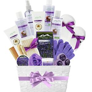 Spa Gift Baskets for Women! Top Rated Beauty Gift Basket Spa Basket, Choose Lavender Spa Kit Bed and Bath Body Works Gift Baskets for Women! Bath Gift Set Bubble Bath Basket Body Lotion Gift Set