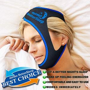 Memo BetterSleep Anti Snoring Chin Strap for Men and Women [2019 Upgrade Version] - Advanced Snoring Solution Scientifically Designed to Stop Snoring Naturally and Give You The Best Sleep of Your Life