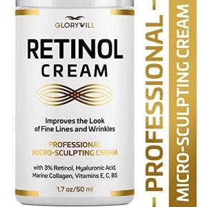 3% Retinol Anti Aging Face Cream - Made in USA - Retinol Moisturizer for Women & Men - Anti Wrinkle Night Cream - Retinol, Hyaluronic Acid & Collagen Moisturizer - Fine Lines Smoothing & Firming Cream