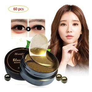 Korean 60 psc Black Gold Pearl Collagen Eye Patch | Anti Wrinkle Eye Mask Gel Sleep Mask Dark Circles Under Eye Bags Treatment | All-Natural Eye Care Gel for Women and Men eye-pad