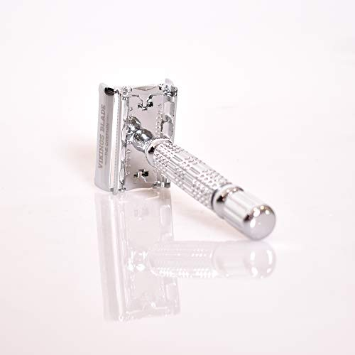 VIKINGS BLADE The Chieftain Double Edge Safety Razor Bundle Dimensions: 3.eight x 1.eight x 1.zero inches