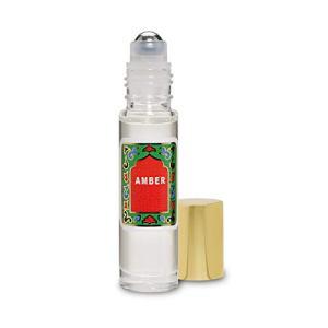 Amber Perfume Oil Roll-On - Amber White Fragrance Oil Roller (No Alcohol) Perfumes for Women and Men by Nemat Fragrances, 10 ml / 0.33 fl Oz