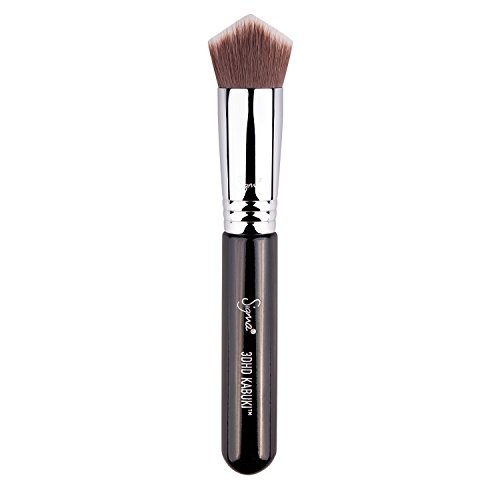 Sigma Beauty Professional 3DHD Premium Kabuki Makeup Brush with Sigmax fibers for Liquid, Cream, and Powders, to Buff, Blend and Highlight Face Makeup Brush