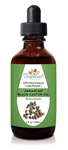 100% Pure Jamaican Black Castor Oil 4 oz, Premium Natural For Hair Growth, Beard, Eyelashes, Edges, Scalp Grease, Dandruff, Eyebrows - Hexane Free by Tropical Holistic