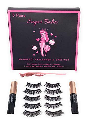 Premium Magnetic Eyelashes with Eyeliner Kit, Magnetic Eyeliner for Magnetic Eyelash Set, Reusable Lashes