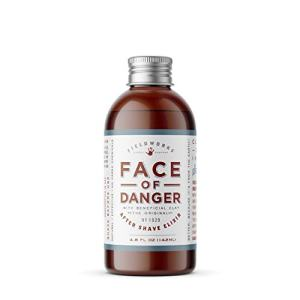 Face of Danger Organic After Shave Lotion, Natural Aftershave Moisturizer Balm - Soothes Razor Burn and Skin Irritation, Made with Aloe, Bentonite Clay, and Calendula, 4.8 Fl Oz.