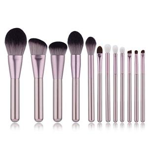 Yoseng Professional 12 Pieces Makeup Brush Set Premium Synthetic Kabuki Foundation Blending Blush Concealer Eye Face Liquid Powder Cream Cosmetics Brushes Kit