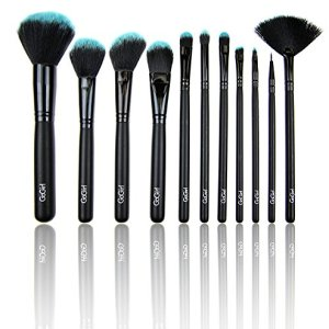 GoGirl Beauty 11 Piece Makeup Brushes Premium Makeup Brush Set Synthetic Premium Cosmetics Foundation Blending Blush Eyeliner Face Powder Brush Makeup Brush Kit -Blue