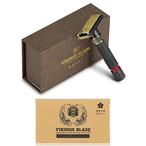 VIKINGS BLADE The Emperor Adjustable Safety Razor VIKINGS BLADE The Emperor Adjustable Safety Razor, MEIJI Edition (Vintage Bronze & Raven Black).