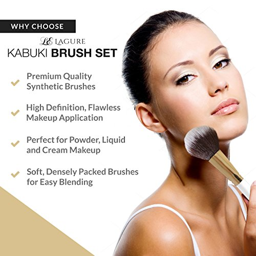 Lagure Premium Kabuki Makeup Brush Set - The Perfect Makeup Brushes Bundle Dimensions: 7.6 x 5.5 x 1.zero inches
