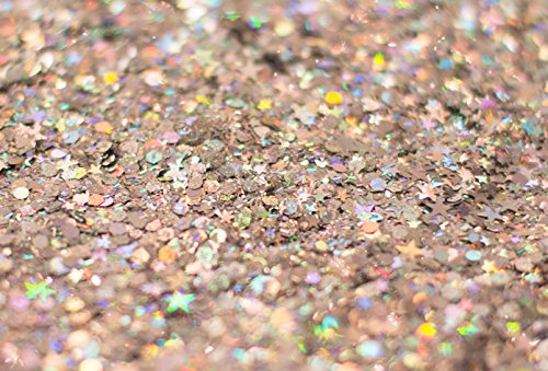 Silver Holographic Chunky Glitter ✮ Large 30g Jar KARIZMA BEAUTY Bundle Dimensions: 2.6 x 0.7 x 1.eight inches