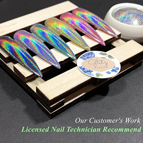 Chrome Nail Powder by iMethod - Holographic Nail powder Package deal Dimensions: 4.Three x 3.Zero x 0.7 inches