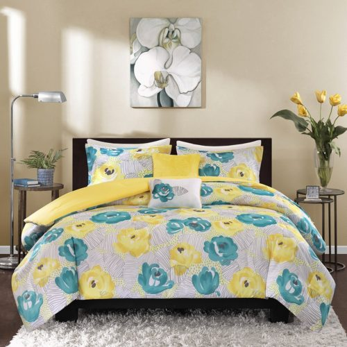 Touch Of Yellow Floral Bedding Sets Comforter Set Duvet Amp Quilt Sets