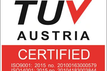 Lux Concept Certificada nas normas ISO9001:2015 e ISO14001:2015