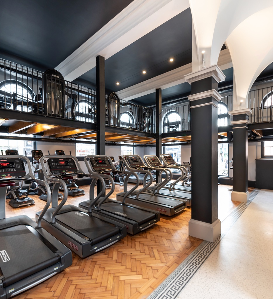 Cardio training facilities at Luxe Fitness