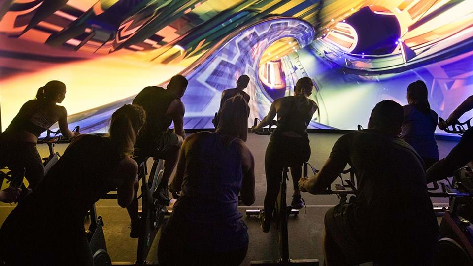 Les Mills The Trip classes available inside our Virtual Indoors Cycling Studio in Bristol