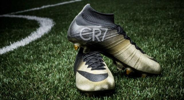 Nike Mercurial CR7 Rare Gold : Des crampons ornés de diamants spécialement pour Ronaldo