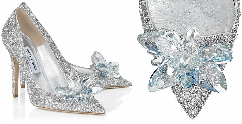 Jimmy Choo Cinderella Slipper  La véritable pantoufle en verre de  Cendrillon