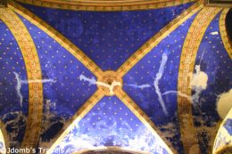 Beautiful ceiling of Saint-Martin Church