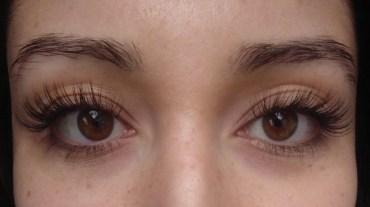 After eyelash extensions (no mascara)