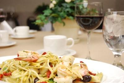 Rigatoni with seafood