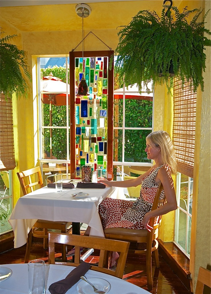 Stained glass windows and creative cuisine equal sheer bliss at PJ's Seagrille.