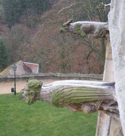 Gargoyles hanging around at St. Barbara's Church, Kutna Hora - Photo Kissam