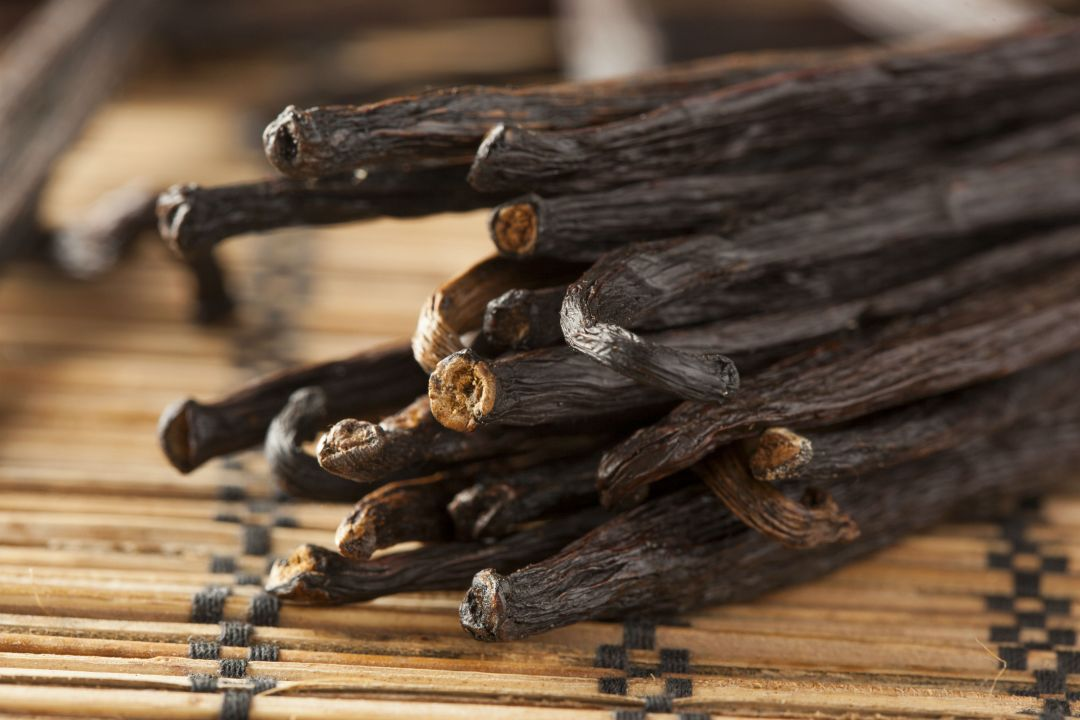 shutterstock_127193942-Fresh Brown Organic Vanilla Bean against - WEB