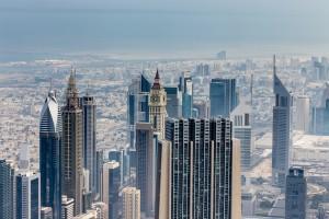 View of Dubai from Burg Khalifa